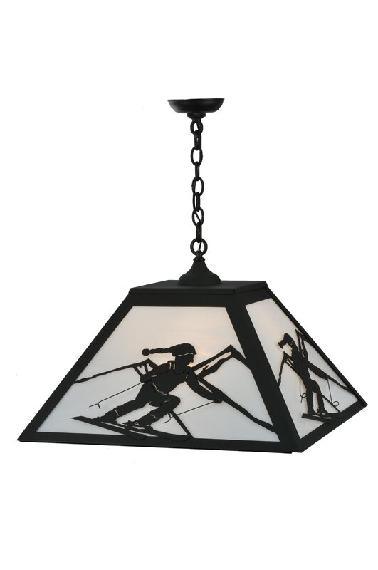 Alpine 3-Light Square/Rectangle Chandelier