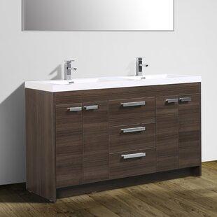 Zuzanna 60 Double Bathroom Vanity Set by Orren Ellis