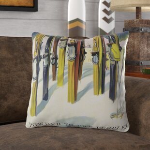 Perham Vintage Ski Throw Pillow by Loon Peak 2019 Sale