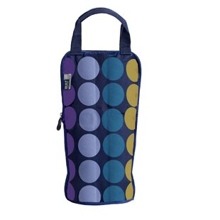 Icetec Freezable Plum Dot Wine And Champagne Bag By Built NY