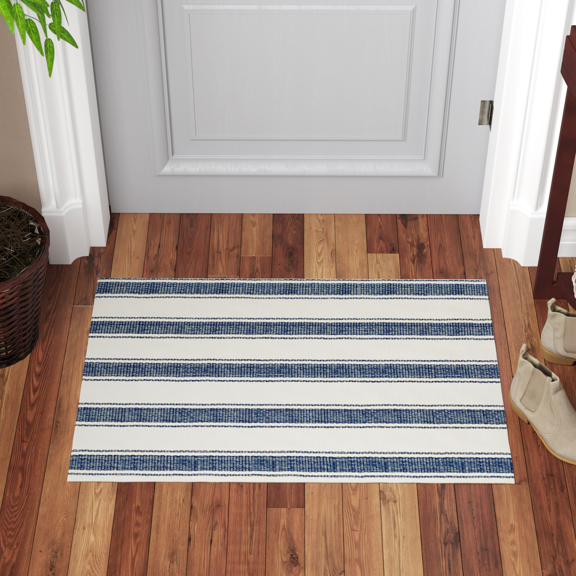 Blue White Flat Woven Area Rugs You Ll Love In 2021 Wayfair