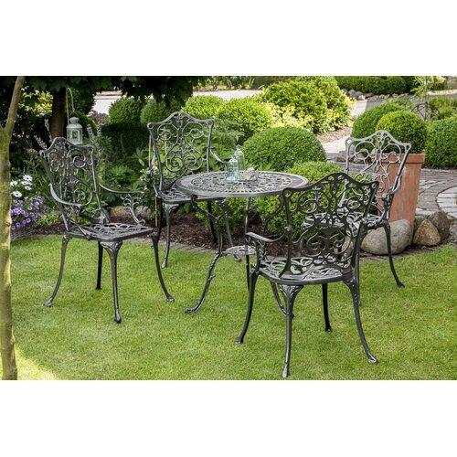 4-Sitzer Gartengarnitur Johann Kampen Living Beschichtung: Graphitgrau | Garten > Gartenmöbel > Gartenmöbel-Set | Kampen Living