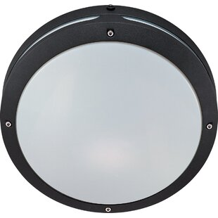 Dietz 2-Light Outdoor Flush Mount by Breakwater Bay