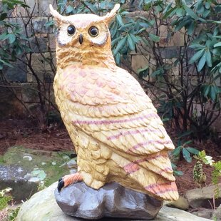 HomeStyles Call of the Wild Owl on Perch Statue