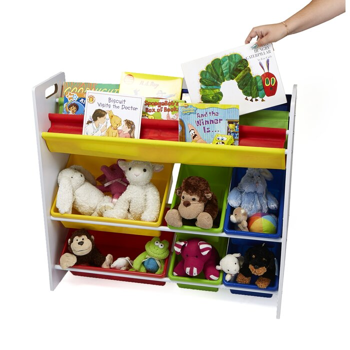 Sling Book Shelf And Toy Organizer