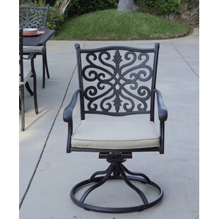 Belton Swivel Patio Dining Chair with Cushion