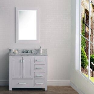 Clifford 36 Cashmere Single Bathroom Vanity Set with Mirror ByEbern Designs