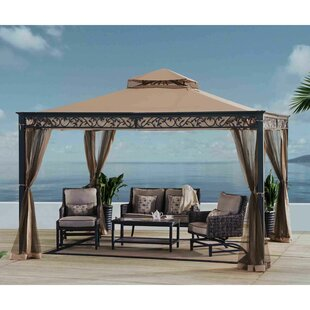 Briana 12 Ft. W x 10 Ft. D Metal Patio Gazebo by Sunjoy