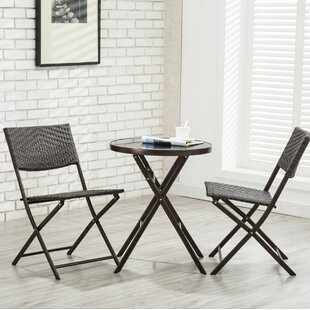 Bay Isle Home Rockingham 3 Piece Patio Bistro Set