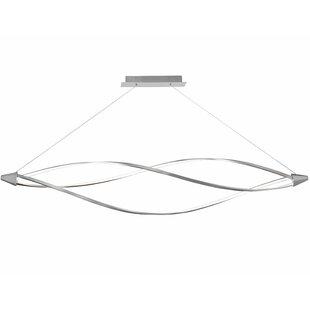 Orren Ellis Esposito 3-Light LED Geometric Chandelier