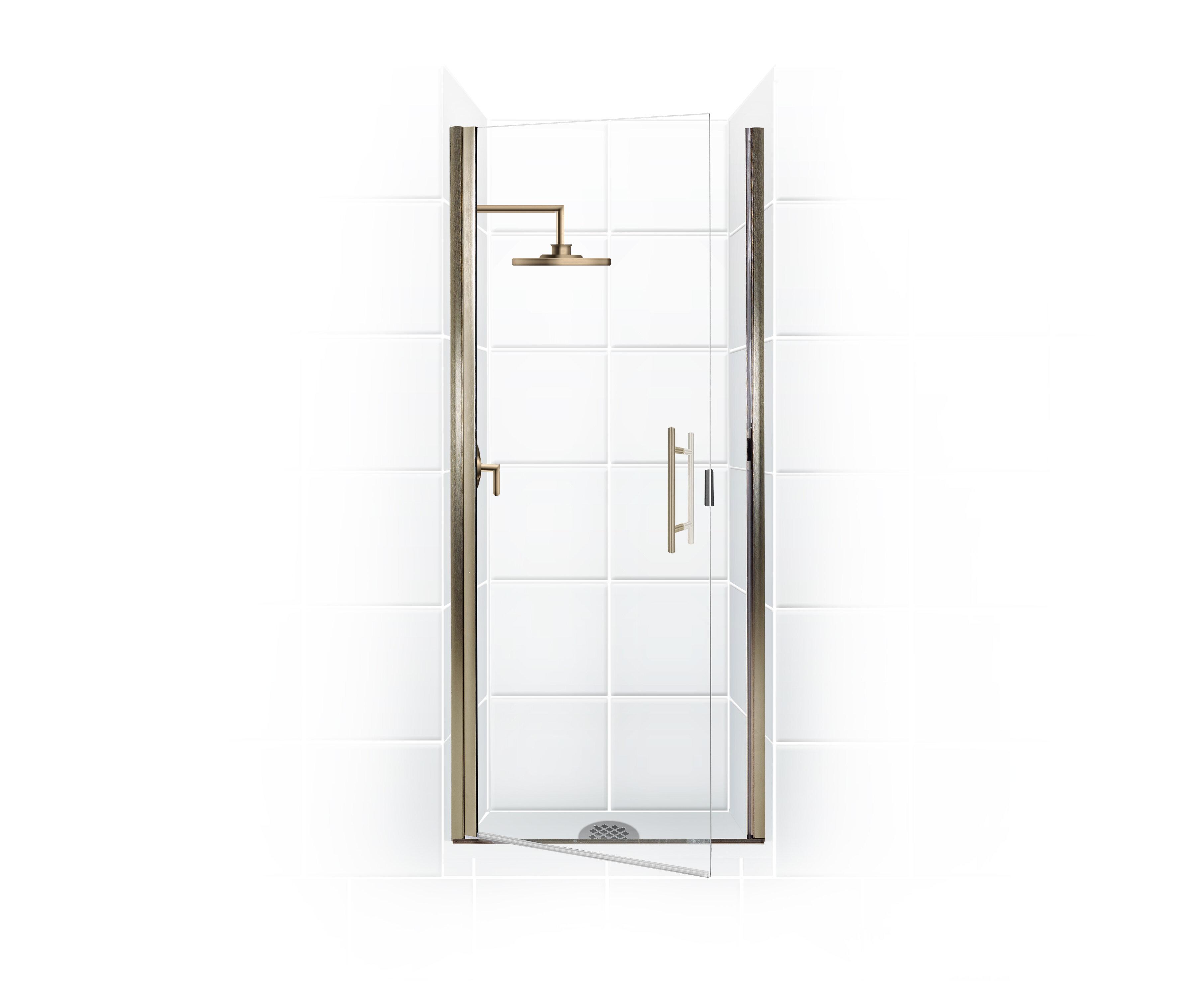 Coastal Industries Paragon Series 24 X 69 Hinged Semi Frameless Shower Door Wayfair