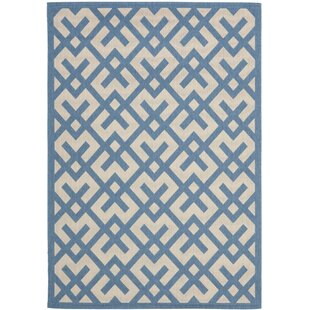 Jefferson Place Beige/Blue Indoor/Outdoor Rug