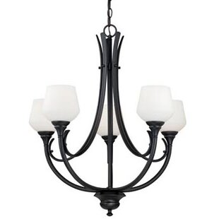 Abrahamson 5-Light Shaded Chandelier by Winston Porter