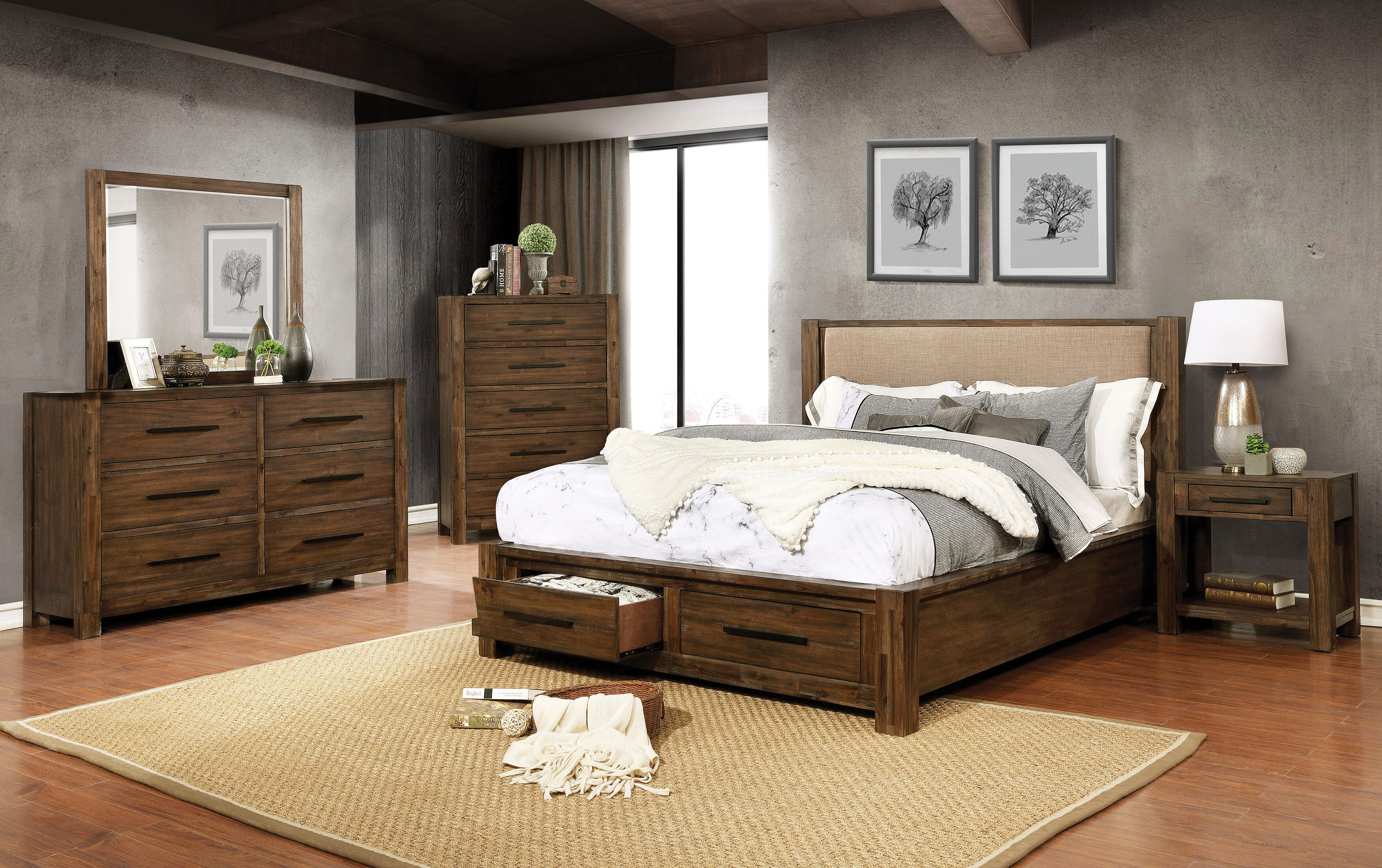 Union Rustic Shellenbarger Storage Platform Configurable Bedroom Set Reviews Wayfair