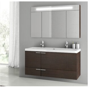 New Space 47 Double Bathroom Vanity Set with Mirror