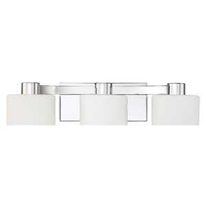 Luca Polished Chrome 3-Light Vanity Light