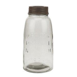 Large Mason Storage Jar with Rust Lid