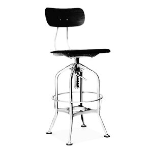 Toledo Adjustable Height Swivel Bar Stool by Design Lab MN