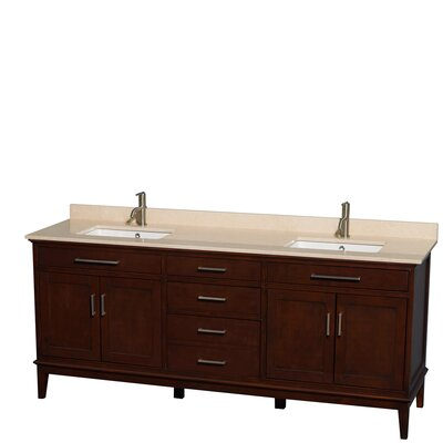 "wyndham collection deborah 80"" double bathroom vanity set"