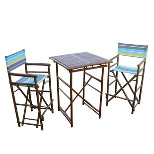 Sergios 3 Piece Bar Height Dining Set