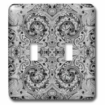 3drose Wallpaper Pattern Double Toggle Light Switch Wayfair