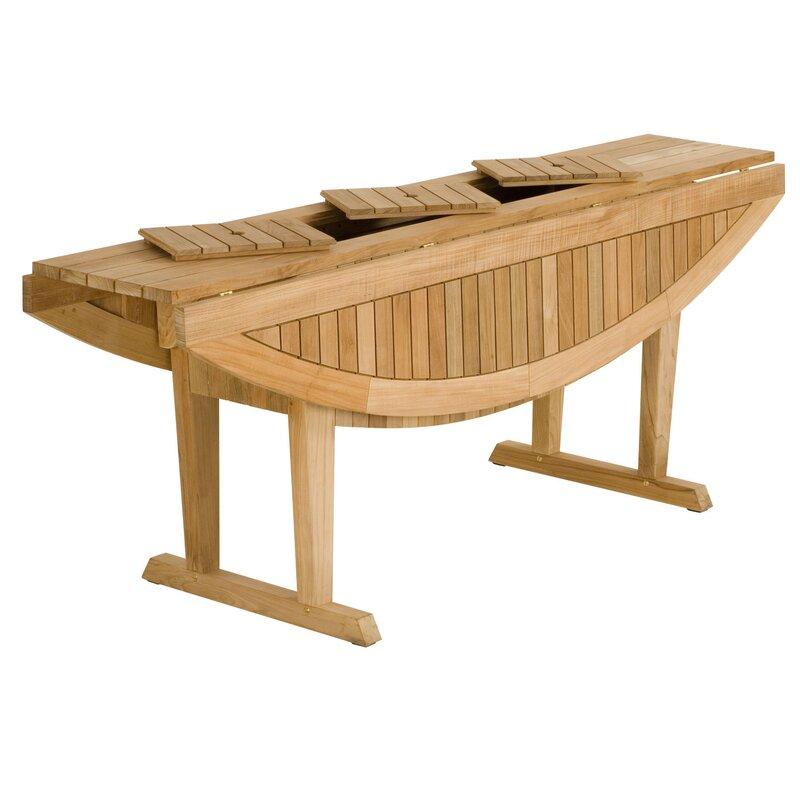Teak Altaro Oval Drop Leaf Table - Les Jardins Teak Altaro Oval Drop Leaf Table Wayfair
