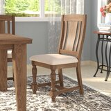 Fortunat Upholstered Solid Wood Slat Back Side Chair in Oatmeal (Set of 2) by Laurel Foundry Modern Farmhouse
