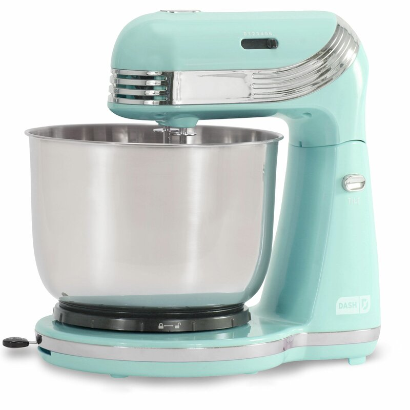 DASH Everyday 6 Speed 2.5 Qt. Stand Mixer Color: Pastel Blue