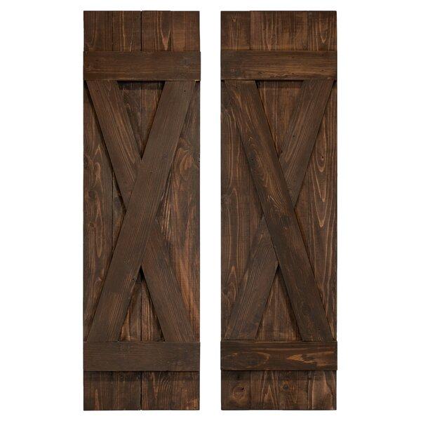 Exterior Shutters Pair X Board Batten