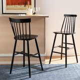Spindle Bar Stool (Set of 2) by Highland Dunes