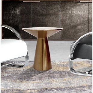 Lorenzo Stainless Steel Side Table by Pasargad 2019 Online