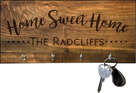 4 Wooden Shoes 11 X 5 X 0 63 Personalized Sweet Home Key Hook Reviews Wayfair