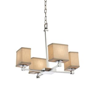 Red Hook 4 Light Rectangle Chandelier by Latitude Run