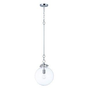 Best Reviews Caulkins 1-Light Globe Pendant By Latitude Run