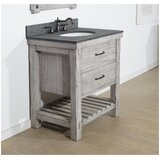 Boleynwood Solid Fir 30 Single Bathroom Vanity Set by Foundry Select