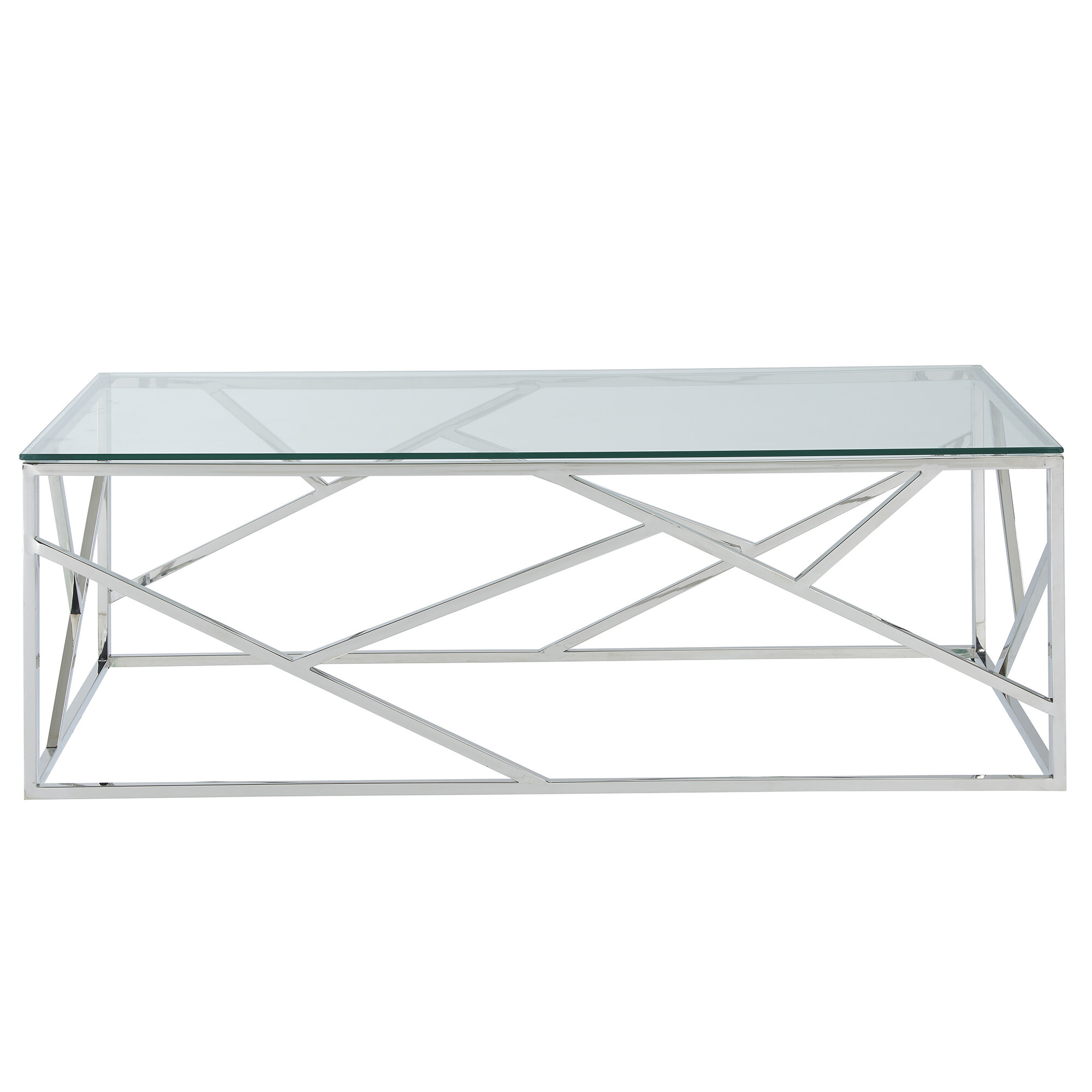 High Quality House Of Hampton Menahan Stainless Steel Coffee Table | Wayfair