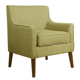 Hauser Fabric Upholstered Wooden Armchair by George Oliver