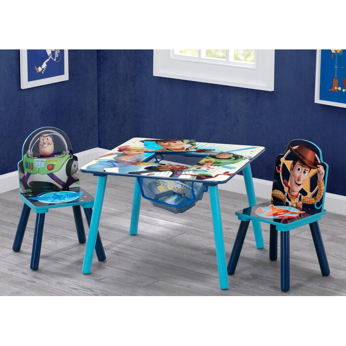 Groovy Disney Pixar Toy Story Kids 3 Piece Writing Table And Chair Set Evergreenethics Interior Chair Design Evergreenethicsorg