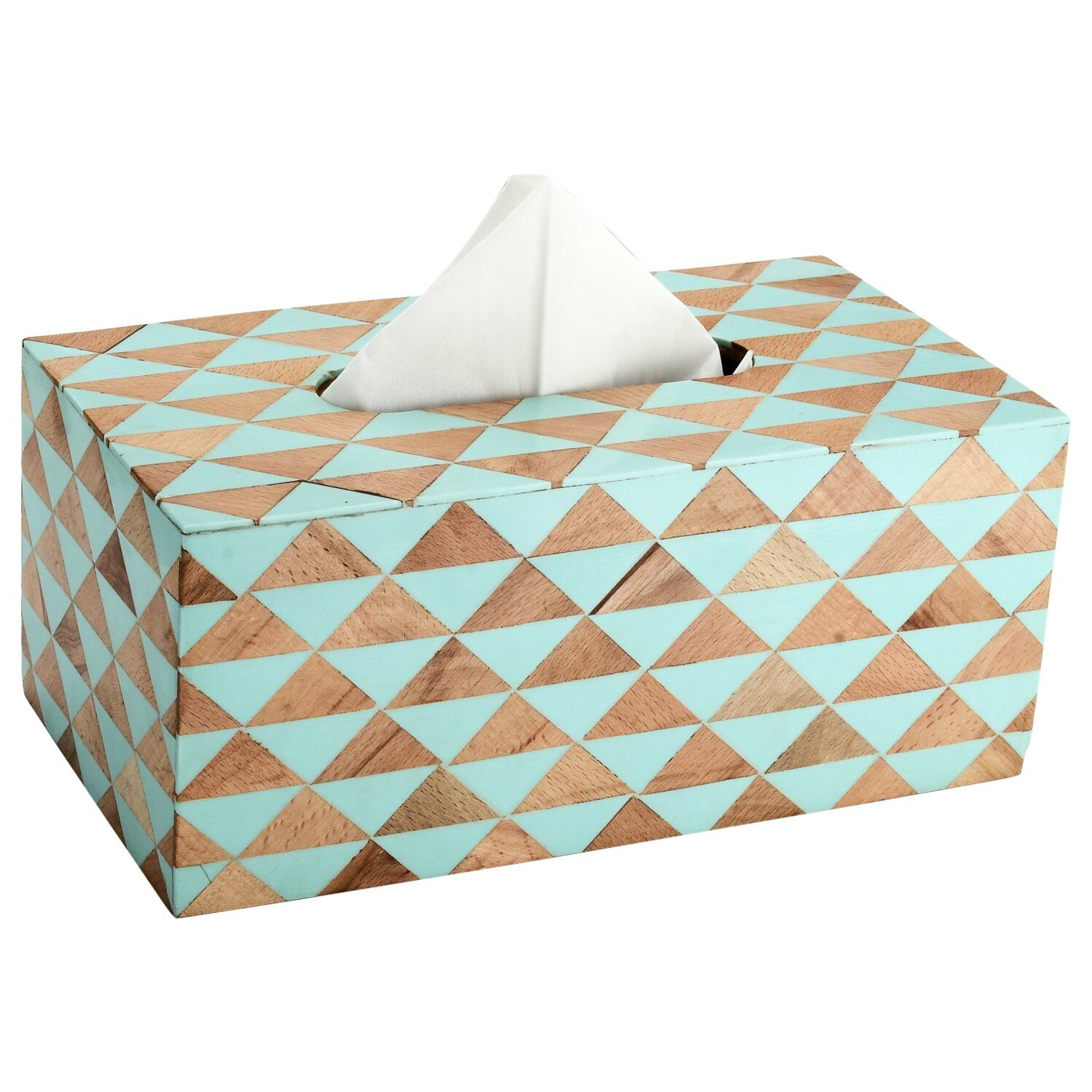 Wrought Studio Leonie Mosaic Tissue Box Cover Reviews Wayfair
