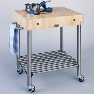 Cucina Americana Kitchen Cart with Butcher Block Top John Boos