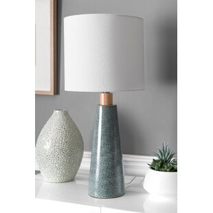 Mistana Sky Ceramic and Wood Linen Shade 29