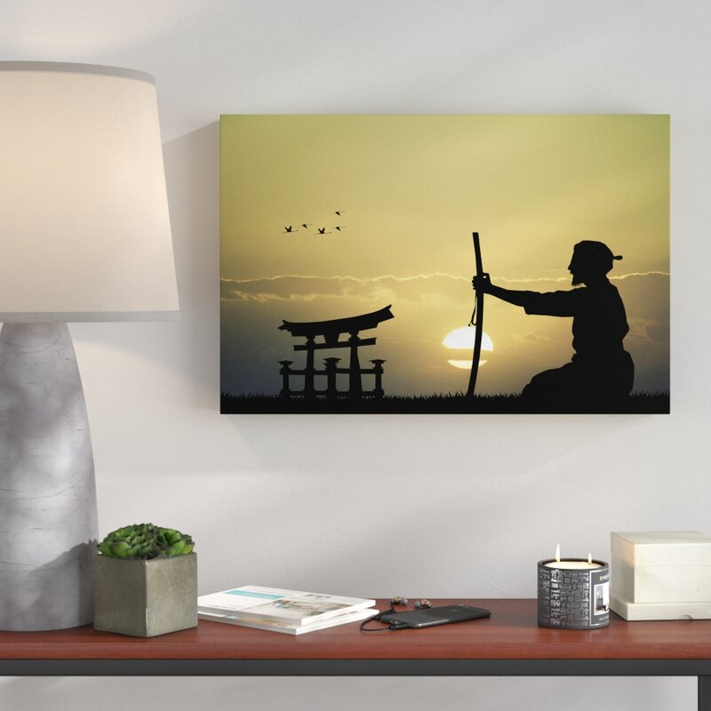 Home Loft Concept Old Samurai Master Before the Horizon Wall Art on ...