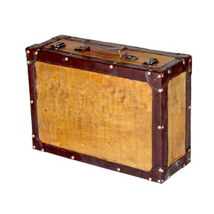 Old Vintage Suitcase Trunk by Quickway Imports