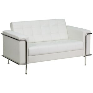 Hypnos Contemporary Leather Loveseat by Wade Logan