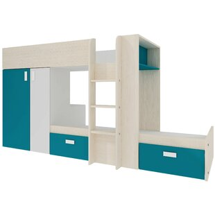 Mukilteo Single L-Shaped Bunk Bed With Drawers And Built-In Wardrobe By 17 Stories