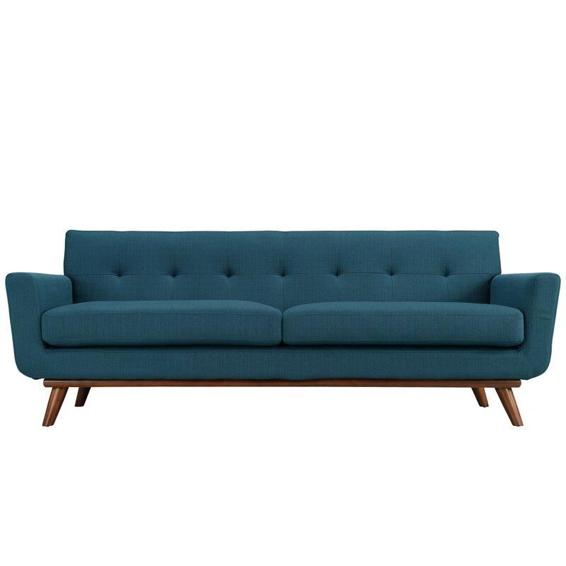johnston upholstered sofa reviews allmodern. Black Bedroom Furniture Sets. Home Design Ideas