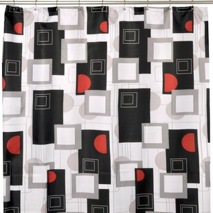 Urban Geo Red Shower Curtain ByFamous Home Fashions