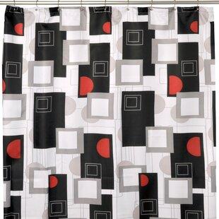 Urban Geo Red Shower Curtain