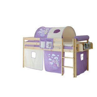 Freer European Single Mid Sleeper Bed With Textile Set By Zoomie Kids