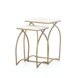 Port Menier 2 Piece Nesting Tables by Bungalow Rose